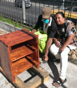 The men participating in the Quito Men's Program are producing quality furniture