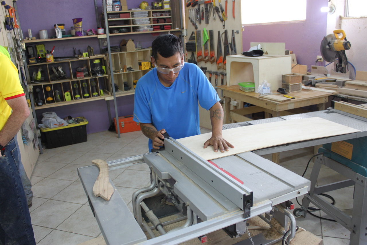 The Quito Men's Program is training men in carpentry, electrical and plumbing