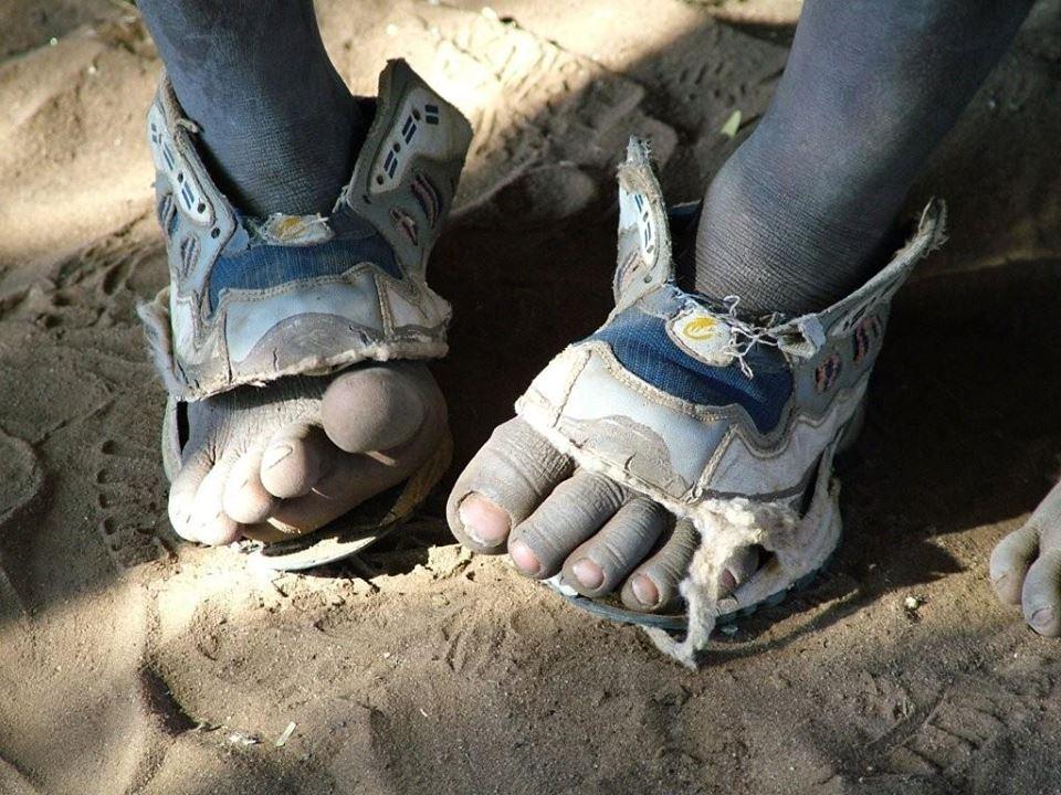 Former ER volunteer invents Shoe That Grows