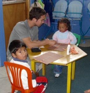 David enjoyed his volunteer work with the kids